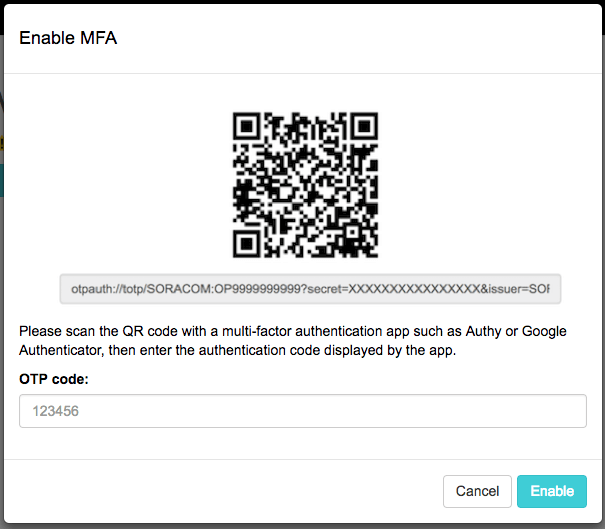 QR code that can be scanned