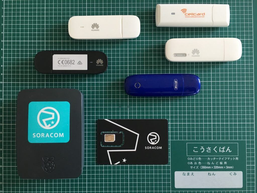 Testing different Cellular Dongles with Soracom Air