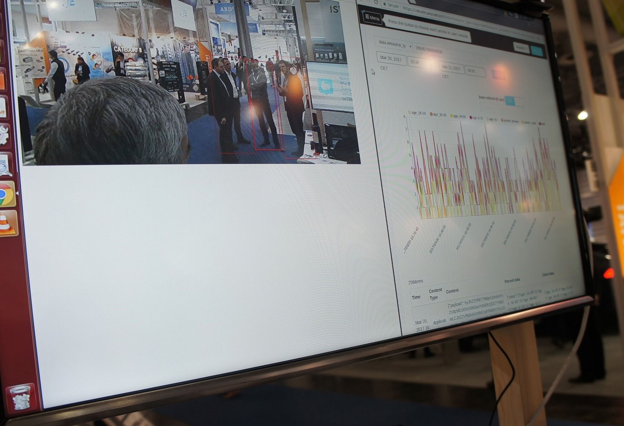 Real-time visualization with Soracom HarvestF