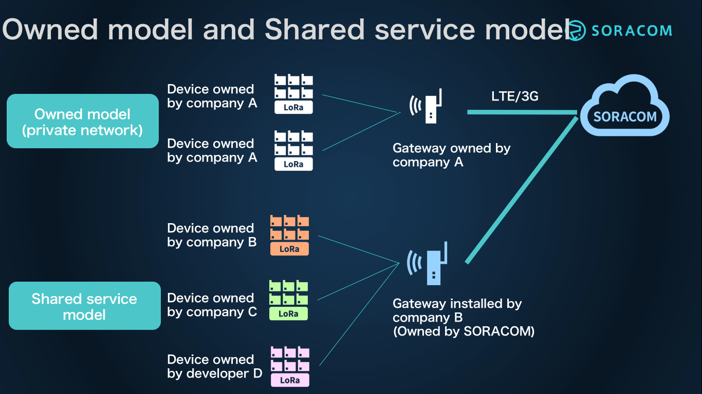 Owned model and Shared service model