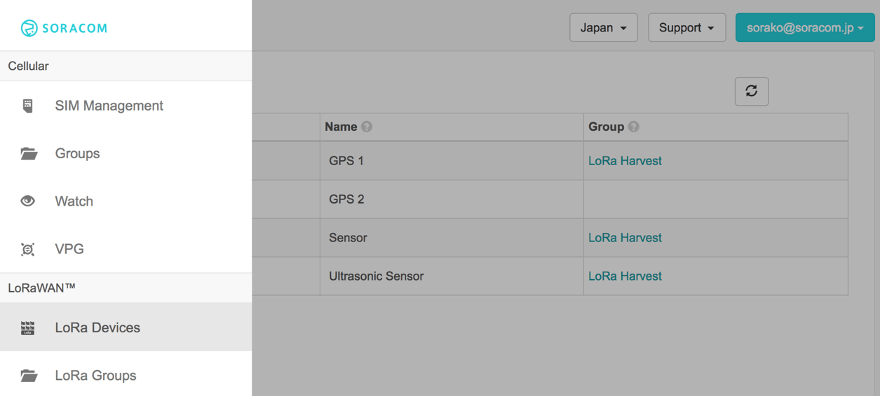 Soracom Air for LoRaWAN