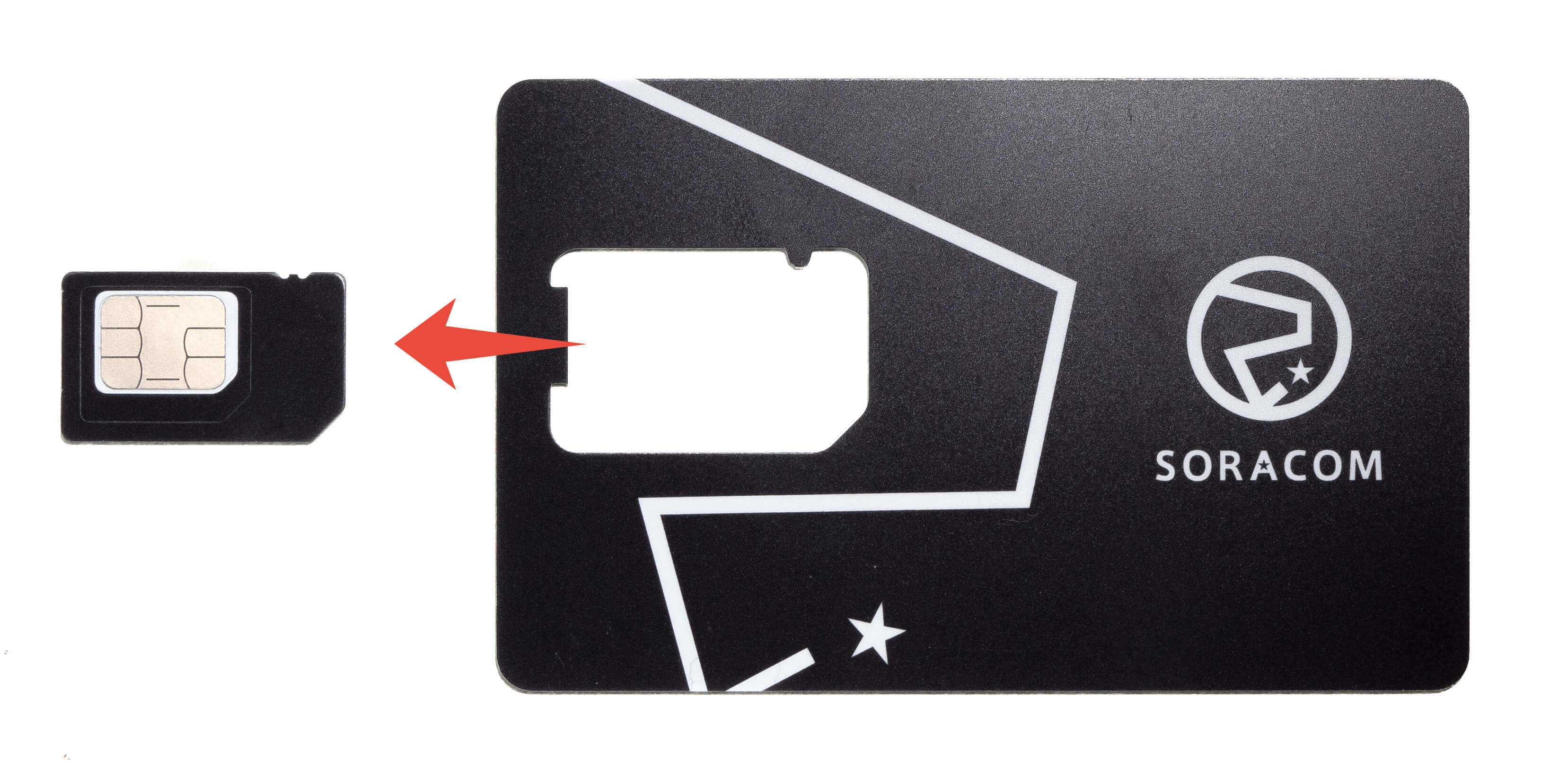 Gently detach the SIM card from the card package