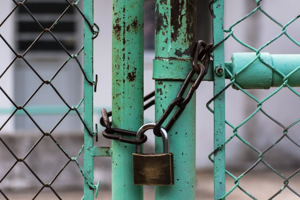 locked-chain-fence