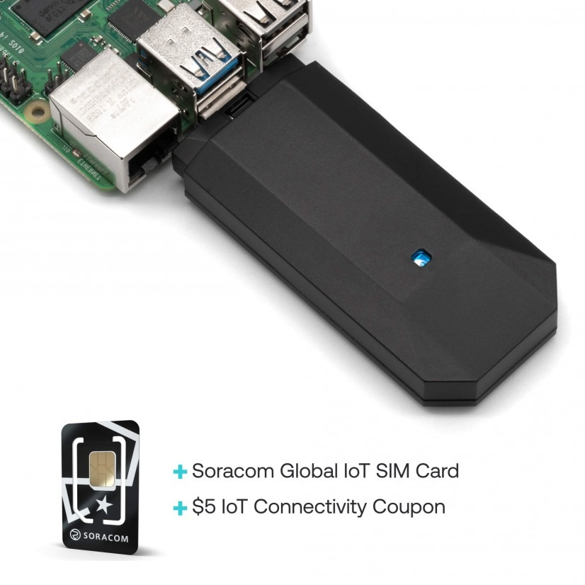 Soracom Onyx LTE USB Dongle with IoT SIM Card and IoT Connectivity