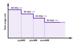 Data usage fee discount