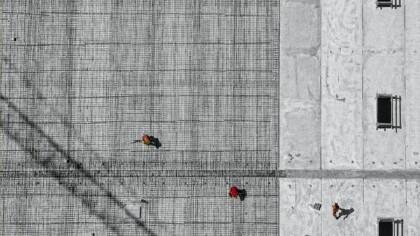 Concrete construction aerial